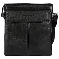 Многофункциональная мужская сумка через плечо черная TF00888-5B
