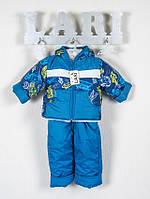 Зимний полукомбинезон и куртка для мальчика, синий