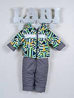 Зимний полукомбинезон и куртка для мальчика, зеленый