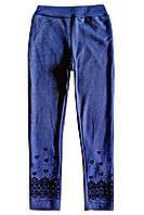 Лосины утепленные мехом, имитация джинса; 4, 8 лет, фото 1