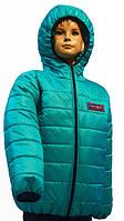 Демисезонная куртка для подростка № 4017-1 бирюза