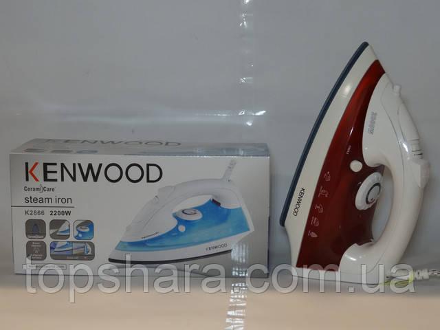Паровой утюг Kenwood K2866 2000вт. цвет белый с красным, керамическая подошва