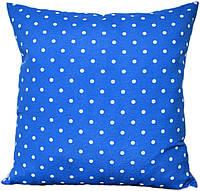 Декоративная подушка  Горох (синий)