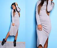 Классическое миди платье с разрезами