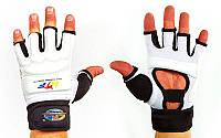 Перчатки для тхэквондо с фиксатором запястья WTF (PU) S, М