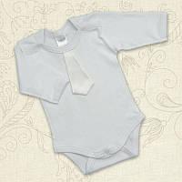 Боди Святковий Мальчик д.р. Интерлок Цвет белый, молочный Размер 56-68 Бетис
