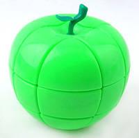 Усложнённый кубик Рубика 3х3х3 в виде яблока ЗЕЛЕНЫЙ SKU0000579