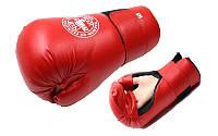 Перчатки для таеквондо официал ITF (PU) L красные