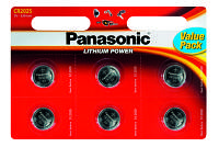 Батарейки в пульт Panasonic CR 2025 BL 6 шт LITHIUM