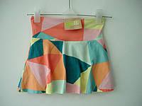 """Юбка-шорты для девочки 6-12, 12-18, 18-24 мес, 2, 5, лет """"Геометрия"""" Crazy8 (шорти для дівчинки трикотаж)"""