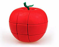 Усложнённый кубик Рубика 3х3х3 в виде яблока КРАСНЫЙ SKU0000580