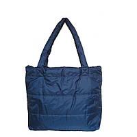 Дутая сумка однотонная синяя