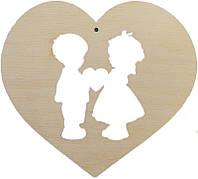 """Сердце деревянное """"Влюбленные"""""""