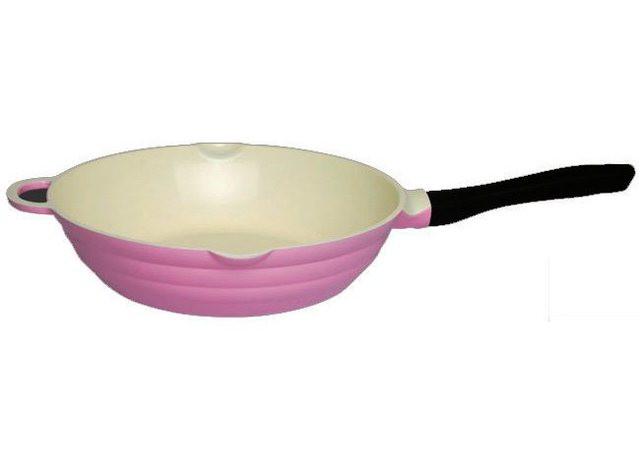 """Сковорода глубокая 28 см с керамическим антипригарным покрытием Fissman """"Lazurite"""" (AL-4743.28)"""