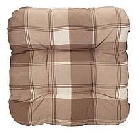 Подушка для стула 40 x 40 x 8 см клетка беж