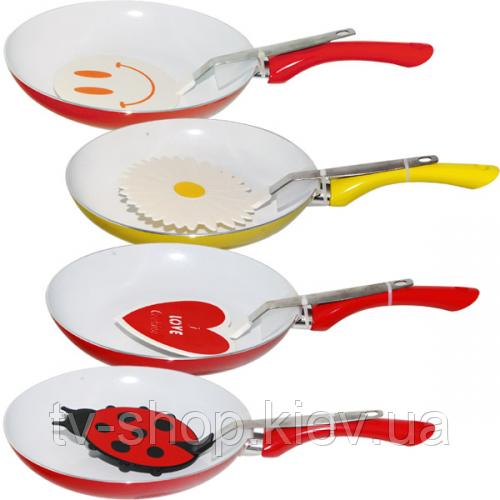 Сковорода с керамическим покрытием (24 см )+ лопаткой