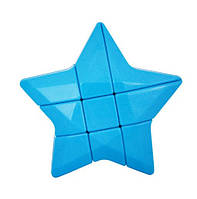 Усложнённый кубик Рубика 3х3х3 в виде Звезды ГОЛУБОЙ SKU0000581