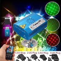 Лазерний светоприбор S-09RG з USB і Bluetooth (Зелені та червоні крапки)