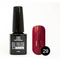 """Гель-лак """"TNL - 3 в 1"""" №29 красно-коричневый (6 мл.)"""