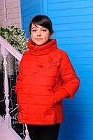 Куртка детская Весенняя «Миледи», красная, 122-152 рост