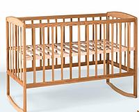 Кроватка детская с дугами 1200*600 бук Крихитка