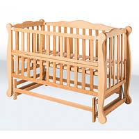 Детская кровать-маятник «Натали» с откидной боковиной 1200*600 бук Крихитка
