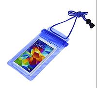 Прозрачный водонепроницаемый чехол для телефона, синий