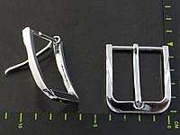 Пряжка ременная 35мм никель 021