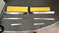 Накладки на пороги Chevrolet Aveo I/II 5D 2002- 6шт. premium
