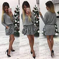 Тёплое женское платье ангора