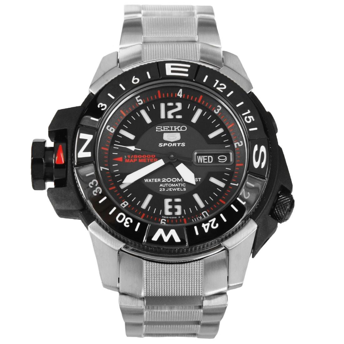 Часы Seiko 5 Sports SKZ229K1 Automatic Map Meter