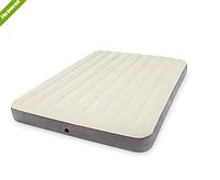Матрас-кровать надувной велюровый Intex 64709