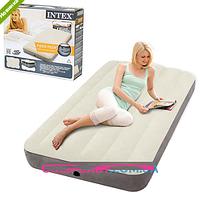 Матрас-кровать надувной велюровый Intex 64707