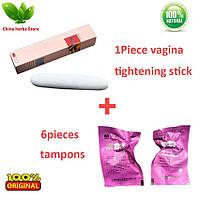 Женская палочка для сужения влагалища + 6 тампонов лечебных