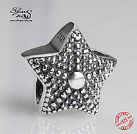 """Серебряная подвеска-шарм Пандора (Pandora) """"Звезда"""" для браслета"""