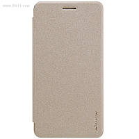 Чехол Nillkin Sparkle Leather Case для Huawei Y6 II (Honor 5A) Shampaign Gold