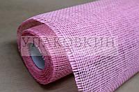 Натуральная джутовая мешковина ЮТА - Розовая