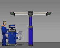 Стенд регулировки углов установки колес а/м V 7204 TP