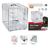 Клетка для собак двухдверная хромированная wire cage Karlie-Flamingo , 63*43*49 см