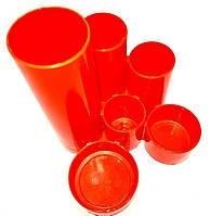 Подставка под канцелярию Economix Е32201-06 Цилиндры оранжевая