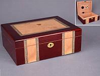 Хьюмидор для сигар деревянный 28х21х10 см.
