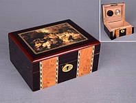 Хьюмидор для сигар деревянный 19х14х9 см.
