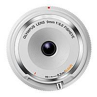 Объектив OLYMPUS BCL-0980 Fish-Eye Body Cap Lens 9mm 1:8.0 White (V325040WW000)