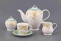 """Чайный сервиз на 6 персон, 15 предметов, """"Лиана"""""""