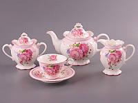 """Чайный сервиз на 6 персон, 15 предметов, """"Розы"""""""