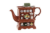 """Чайник заварочный 2000 мл. керамический """"Шкаф"""" коричневый"""