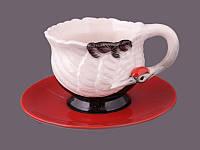 """Чайный набор на 1 персону, 2 пр. """"Японский журавль"""""""