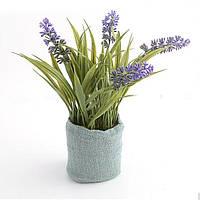 """Искусственные цветы в горшке 20 см. """"Гиацинты"""" фиолетовый"""