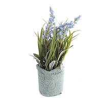 """Искусственные цветы в горшке 24 см. """"Гиацинты"""" фиолетовый"""