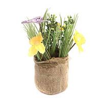 """Искусственные цветы в горшке 16 см. """"Гиацинты"""" разные цвета"""